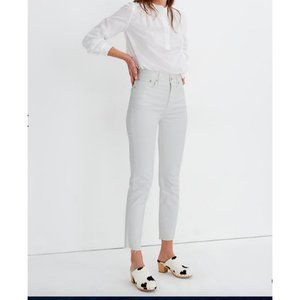 Madewell $128 Perfect Vintage Jean in Tile white